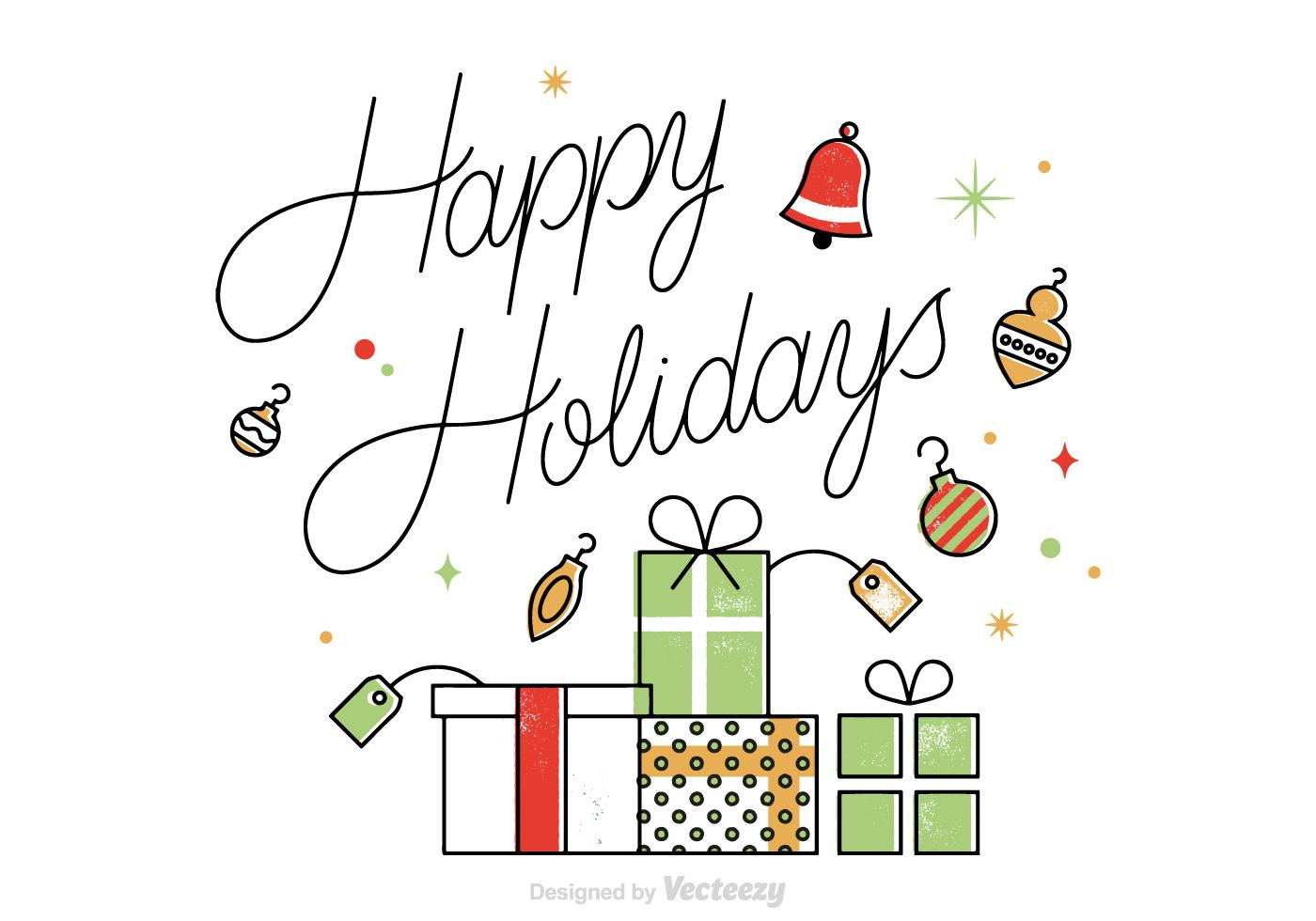 free-vector-happy-holidays-card